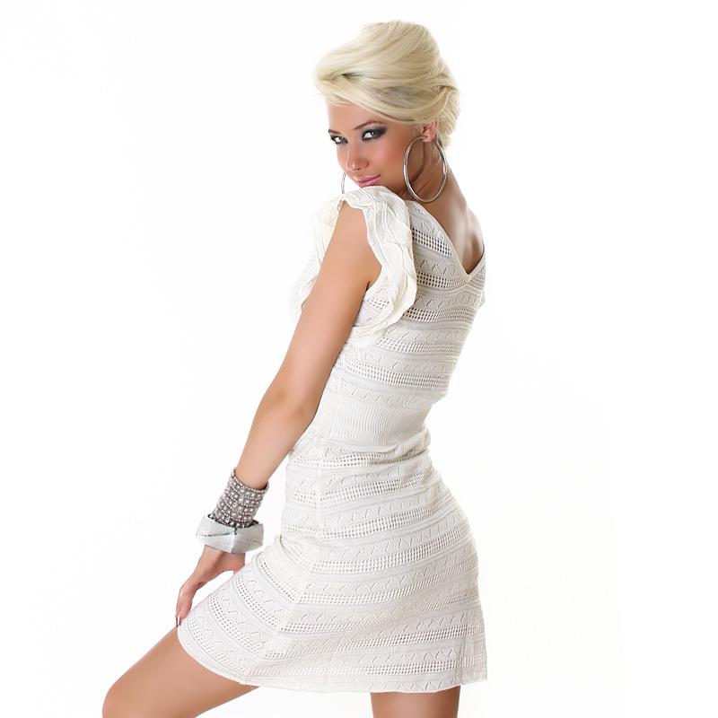 Flirty Little Sweet Cream Crochet Ruffle Summer Dress