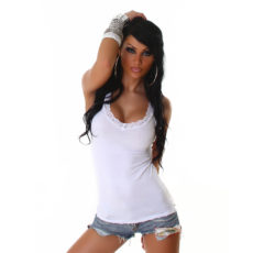 Sweet & Soft White Lace Lined Cami Tank Top Layering Camisole