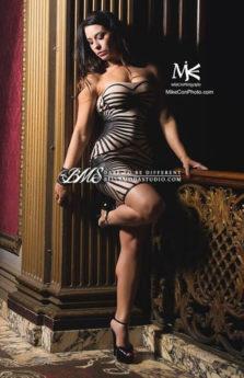 Tan Black Leatherette Strapless Corset Style Celeb Inspired Bandage Dress