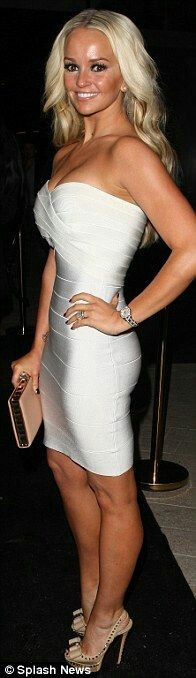 White Solid Strapless Celeb Inspired Bandage Dress