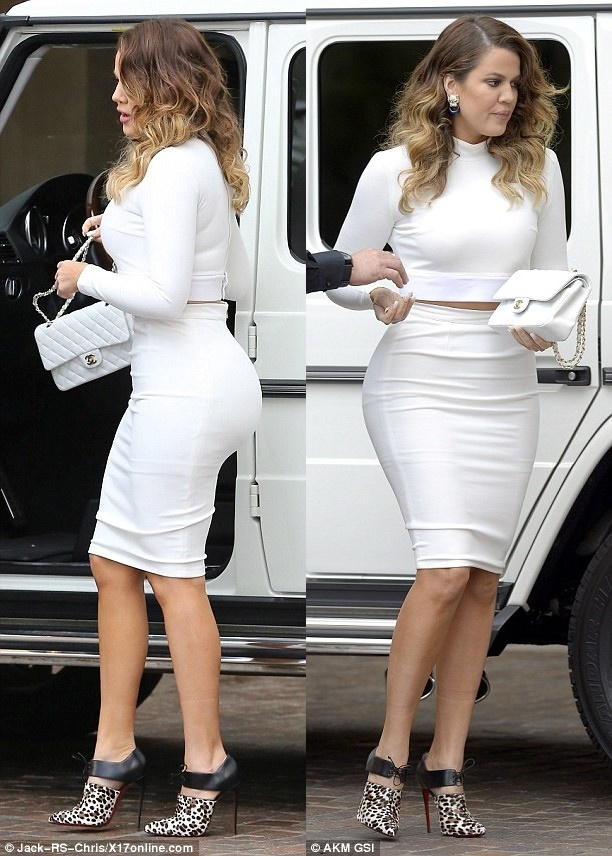 White Classy Striped Celeb Inspired Pencil Bandage Skirt