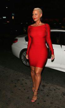 Red Off the Shoulder Long Sleeve Celeb Inspired Bandage Dress
