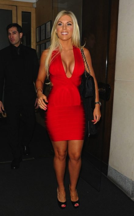 Red Deep V Halter Styled Cross Back Celeb Inspired Bandage Dress