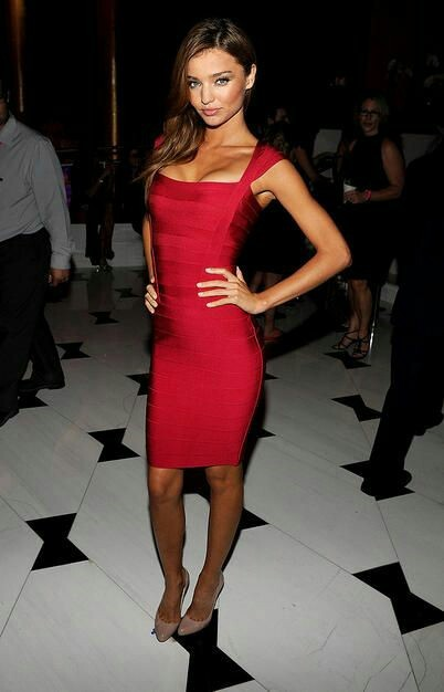 Red Celeb Square Neck Cocktail Celeb Bandage Dress