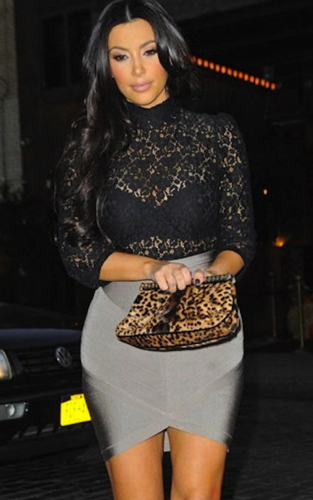 Grey Arched Front Bandage Mini Skirt - Celeb Inspired