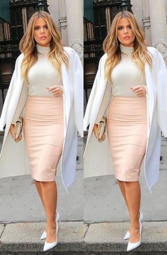 Rose Pink Classy Celeb Inspired Pencil Bandage Skirt