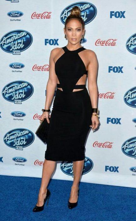 Black Cut-Out Sides Celeb Inspired Bandage Dress