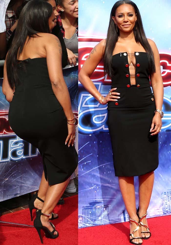 Black Celebrity Inspired Lace Up Bust Bandage Dress