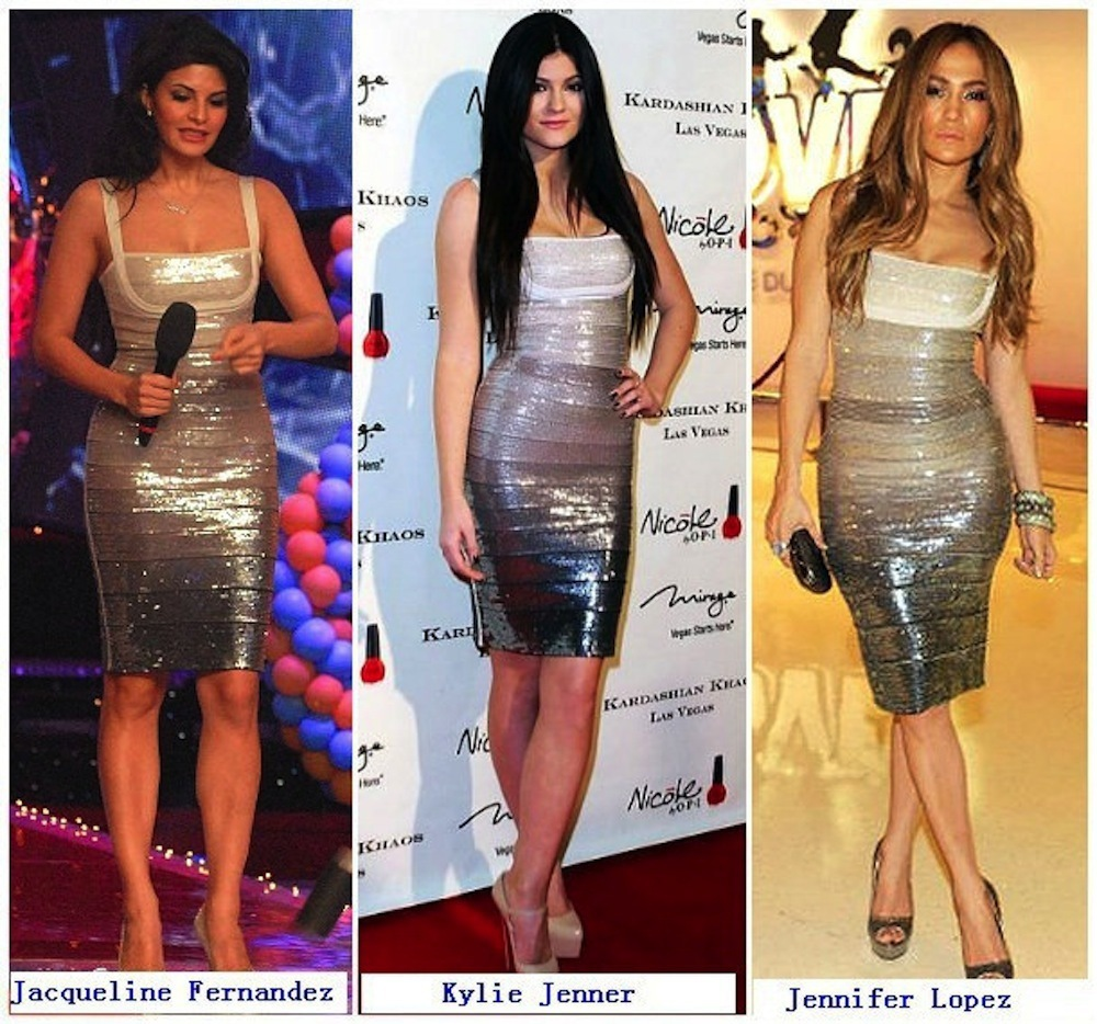 SMALL - Apricot Ombre Sequin Celeb Inspired Bandage Dress -LAST ONE