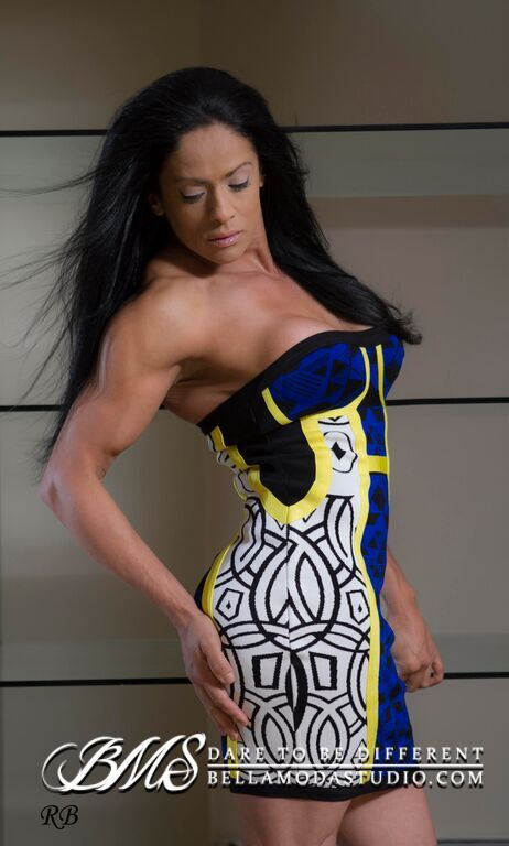 MEDIUM - Blue, White Yellow Corset Style Strapless Geometric Print Bandage Mini Dress
