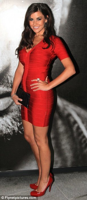 SMALL - Red V Neck Short Sleeve Celeb Inspired Bandage Dress -LAST ONE