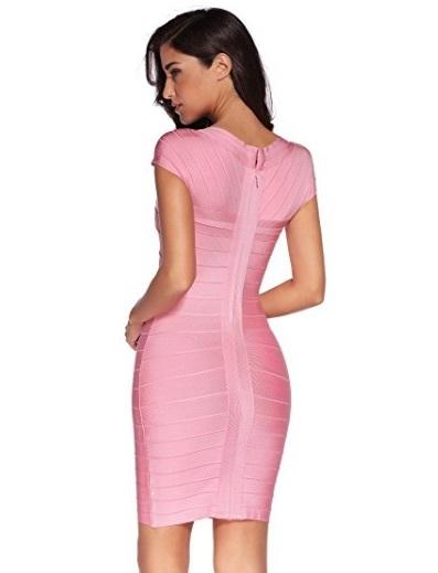 Pink Cross Front Classic Mini Bandage Dress