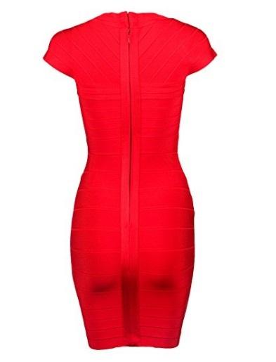 Red Cross Front Classic Mini Bandage Dress