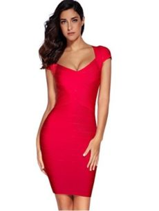 Red Cross Front Classic Mini Bandage Dress