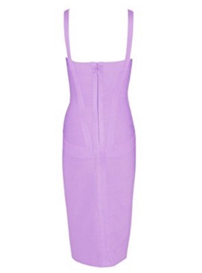 Light Purple Sweetheart Neckline Classic Celeb Inspired Midi Bandage Dress