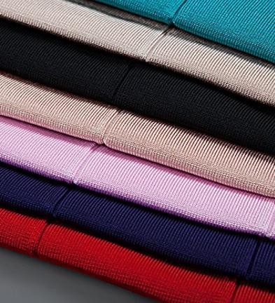 Hot Pink & Gray Cap Sleeve Zip Front V-Neck Mini Bandage Dress