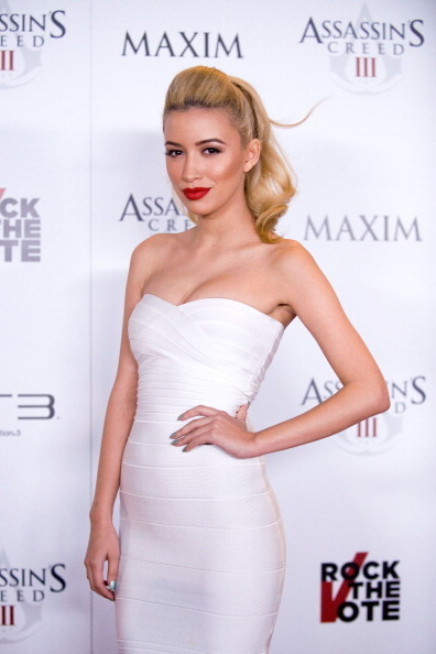 White Classic Strapless Cross Bust Mini Bandage Dress