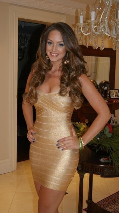 Gold Foil Classic Strapless Cross Bust Mini Bandage Dress