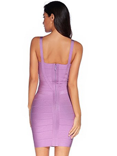 Light Purple Sweetheart Neckline Classic Celeb Inspired Mini Bandage Dress