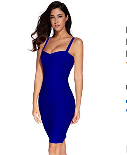 Navy Blue Sweetheart Neckline Classic Celeb Inspired Mini Bandage Dress