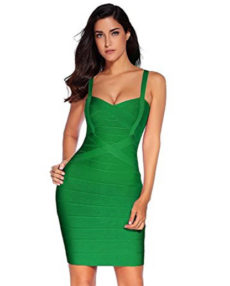 Green Sweetheart Neckline Classic Celeb Inspired Mini Bandage Dress