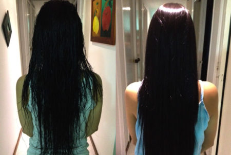 Keratin Express- Daily Keratin repairs damaged hair, increases moisture, creates shine, eliminates frizz, repels humidity, maintains moisture in dry climates, locks in color, protects hair from the harsh environment, creates a soft and silky feel.