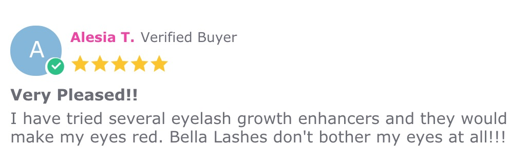 Alesia T Review Bella Lashes - Eyelash and Brow Growth Enhancing Serum