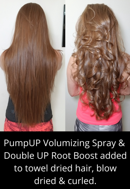 Pump Up & Double UP Results with work up hair spray